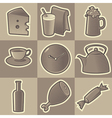 Monochrome food icons vector image vector image