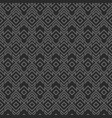 monochrome tribal geometric pattern vector image vector image