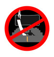 no smoking in cinema red sign prohibiting smoking vector image vector image