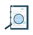 office notepad with magnifying glass vector image