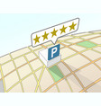 parking area top user rating vector image vector image