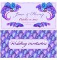 Peacock Feathers Wedding Invitation Vintage vector image vector image