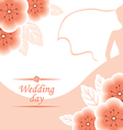 pink wedding vector image vector image
