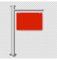 red sign for sale isolated transparent background vector image vector image