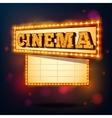 Retro cinema sign vector image vector image