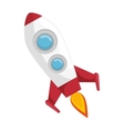 rocket fly in the space icon vector image vector image