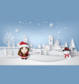 santa and snow an vector image vector image