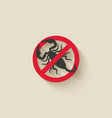 scorpion silhouette pest icon stop sign vector image vector image