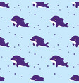 seamless pattern with cute dolphins sea animals vector image vector image