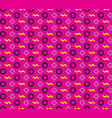 seamless repeating pattern of circles rhombuses vector image vector image
