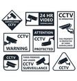 security camera icons cctv symbols vector image vector image