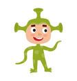 set of cute cartoon kid in colorful vector image vector image