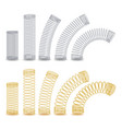 spiral flexible wire metal spiral spring vector image