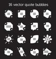 Square quote text bubbles set vector image