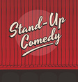 stand up comedy live stage red curtain vector image vector image