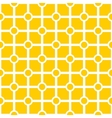 Tile yellow and white geometric pattern vector image