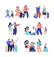 tourist people travel couple isolated travellers vector image vector image