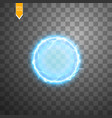 transparent light effect of electric ball vector image vector image
