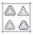 vintage triangular geometric frames vector image vector image