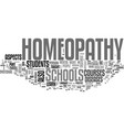 what you can learn in homeopathy schools text vector image vector image