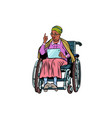african elderly woman disabled person in a vector image