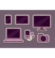 Gadgets icons set vector image