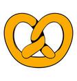 pretzel icon in icon cartoon vector image