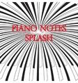 Piano keys splash vector image