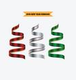 ribbon multicolour collection set vector image