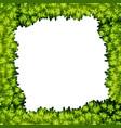 a green leaf frame vector image vector image