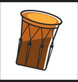 aboriginal drum in brown color closeup graphic vector image