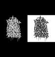 abstract hip hop hand written graffiti vector image vector image