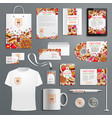 advertising promo items for fast food vector image vector image