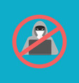 anti hacker icon vector image
