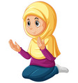 arab muslim girl in traditional clothing