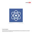 atom sign icon - blue photo frame vector image