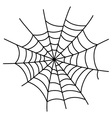 Black cobweb element isolated on white background vector image