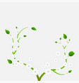 blooming plant with white flowers vector image