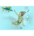 boy under water vector image vector image