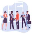 businessmen shaking hands vector image vector image