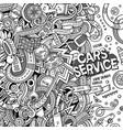 cartoon cute doodles vehicle frame vector image vector image