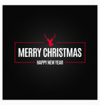 christmas new year logo design background vector image