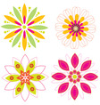 colorful floral vector vector image