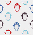 colorful penguin pattern vector image vector image