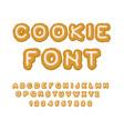cookie font christmas gingerbread alphabet mint vector image