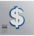 dollar sign on grey background vector image vector image