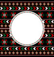 ethnic motifs pattern with round frame for your vector image vector image