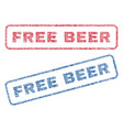 free beer textile stamps vector image vector image