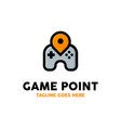 game point logo design inspiration vector image