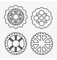 gear white cog machine part set design vector image